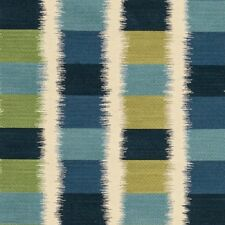 Knoll Ikat Square Refresh Blue Upholstery Fabric Free Ship! by the yard (SF584)