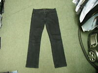 "Miss Selfridge Straight Jeans Size 12 Leg 30"" Black Faded Ladies Jeans"