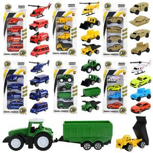 4Pcs Mini Construction Vehicles Hand Sliding Unisex Casual Toy Cars Kid Toys