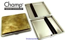 Cigarette Case -- Champ Vintage Leatherette Gold 20 King Size -- NEW chks29
