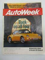 AUTO WEEK MAGAZINE SEPTEMBER 12, 1994 PORSCHE 911 CARRER 4 PEBBLE BEACH CAR SHOW
