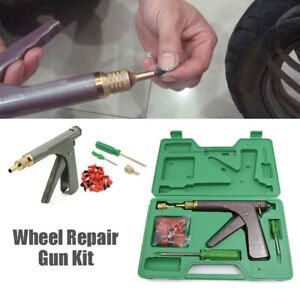 1Set Car Motorcycle Tire Plugger Tyre Wheel Repair Gun Tool Kits w/ Plug Rubber