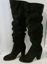 Madden Over the Knee boots Claudia Ladies 6.5 Faux Suede uppers Black (9-365A)
