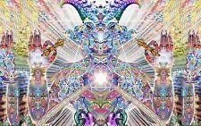 "Psychedelic Trippy Art Silk Cloth Poster 21 x13"" Decor 114"
