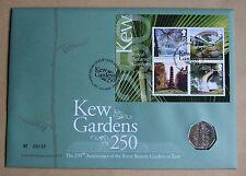 Kew Gardens 250TH anniversaire 2009 Monnaie Royale FDC + 50P Kew Gardens coin UNC