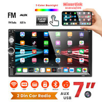 """7"""""""" HD 2DIN Car Radio Stereo Touch Screen  Bluetooth FM Player MP5 USB TF AUX IN"""