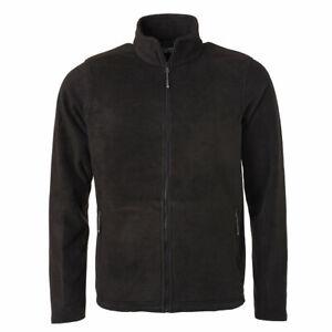 James & Nicholson Fleece Jacke Zip Sweatshirt Übergangsjacke Langarm Herren/Man