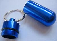 Schlüsselanhänger Snuffbox Pillenbox  Pillbox keychain blau