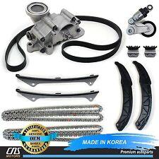 GENUINE 06-10 For Hyundai Kia 3.3L 3.8L Timing Chain Kit Oil Pump Belt Tensioner