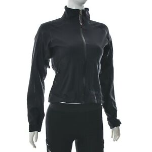 Marmot fleece Women's Drawstring Soft Shell Short Jacket Full Zip Size XS Black