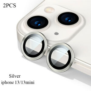 For iPhone 13/mini/Pro/13 Pro Max Camera Lens Protector HD temp Glass Metal Ring