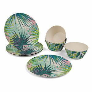 Cambridge COMBO-3152 Lightweight Dinner Plates and Bowls, 8-Piece Set, Kayan