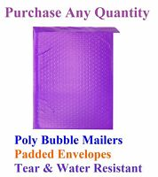 #0 6 x 10 PURPLE POLY BUBBLE MAILERS SHIPPING MAILING BAGS ENVELOPES COLOR 6x9