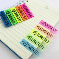 100pcs 5 Colors Sticky Notes Memo Pad Bookmark Note  Pads Self Adhesive Office