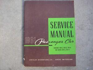 Dodge RD- RD-1 RD-2 RD- 4 Desoto RF - 3 RF - 4  1961 Service Manual