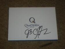 J B Holmes Quail Hollow  Signed  Scorecard COA