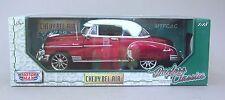 1:18 Motormax Custom 1950 Chevrolet Bel Air Hardtop -Red & White