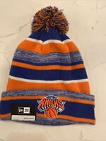 New York Knicks New Era Cuffed Knit Hat with Pom - Black