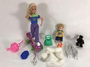 Barbie Mattel Skateboard Stacie Tommy Doll Articulated Winter Olympics Fur Coat