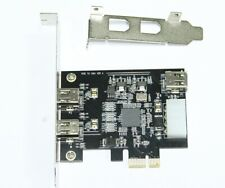 PCI-E express to 2+1 Ports 6-Pin IEEE1394a Firewire400 Video Capture Ti XIO2213