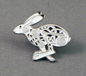 Celtic Hare Pin Badge