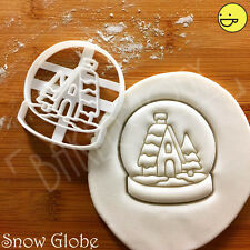 Snow Globe cookie cutter | Christmas xmas snowglobe snowdome snowstorm cookies