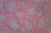 Indian Natural Hand Block Printed Fabric Handmade Cotton Sanganeri Made 1 yard