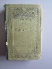 Fables de La fontaine (Hachette 1910 env) Francais Couv. rigide