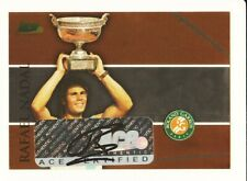 2008 ACE AUTHENTIC MATCH POINT FRENCH OPEN AUTOGRAPHS #RG2 RAFAEL NADAL AUTO SP