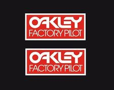 New Vintage BMX Oakley Factory Pilot RED decal sticker set Old School Fox FMF