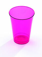 Pack of 10 MOZAIK Disposable Plastic 200ml Cups - Choice of 5 colours