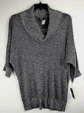 ALYX Size 0X Gray Cowl Neck Lurex Dolman Sleeve Tunic Sweater Plus NEW w/ TAGS