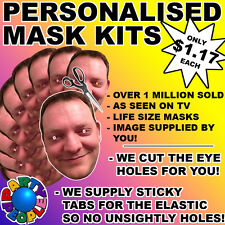 15 Pack Personalized Face Mask Kit - Send A Pic & We Supply All You Need To Diy!
