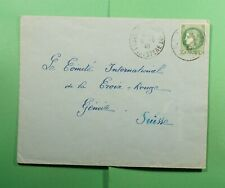 DR WHO 1940 FRANCE QUIMPER TO SWITZERLAND RED CROSS WWII CENSORED f52972