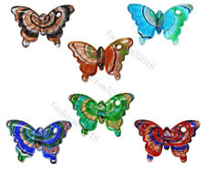 FREE Wholesale Lots 6pcs Butterfly Animal Lampwork Glass Pendants DIY Necklace