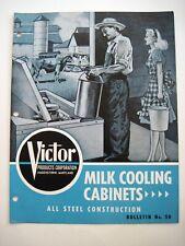 """Vintage Folleto """"Victor Products Corp. """" Leche Enfriamiento Armarios"""