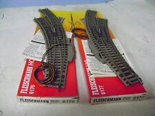 FLEISCHMANN SCAMBI 6176/6177 LEFT/RIGHT Electric  HO LIKE NEW!