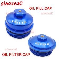 Fit Ford F250 F350 Super Duty Powerstroke 6.0L Oil Fill Cap + Oil Filter Cap