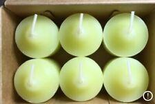 PartyLite Lemongrass Votive Candles V0691 New 6 Nib Lemon Grass Retired Rare Nos