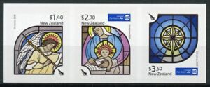 New Zealand NZ Christmas Stamps 2020 MNH Nativity Angels Stained Glas 3v S/A Set