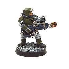 IMPERIAL GUARD Cadian Troop with Meltagun Gun METAL PRO PAINTED Warhammer 40K