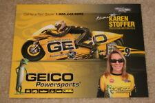 2009 Karen Stoffer Geico Suzuki Pro Stock Motorcycle NHRA postcard