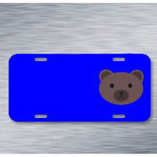 Bear Face Animal Mammal Grizzly On License Plate Car Front Add Names