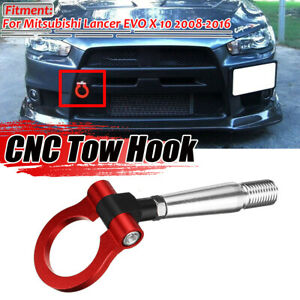 RED ALUMINUM SCREW RACING TOW HOOK Front Rear FOR Mitsubishi Lancer Evo EX  AU