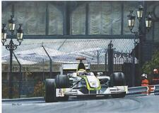 Jenson Button Monaco 2009 art print