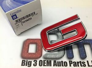 GMC Jimmy Sonoma Canyon Front Grille Red / Chrome Letter G EMBLEM new OEM