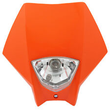 Tete de fourche plaque phare Master ORANGE Moto Cross Enduro Headlight KTM 250