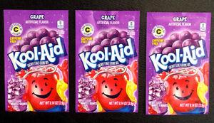 Qty: 3 x Kool Aid Grape Unsweetened Drink Mix