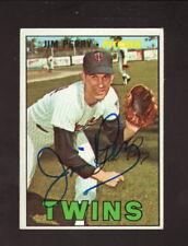 Jim Perry--Autographed 1967 Topps Baseball Card--Minnesota Twins
