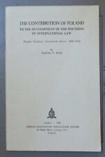 The Contribution of Poland To The Development Of International Law S F Belch